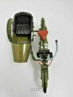 1917 Harley-Davidson motorcycle 3 speed V-twin 16 scale model w sidecar boxes