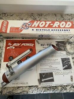 1950's VINTAGE HOT ROD PUT PUT BICYCLE EXHAUST ACCESSORY IN BOX NOS