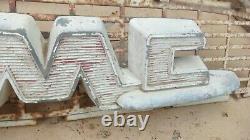 1955 1956 GMC Truck HOOD EMBLEM with MESH Original GM ornament above grille 1957