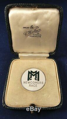 1957 MMCC NEWCOMERS RACE Isle of Man TT Motorcycle SILVER Hallmark Medal & Box