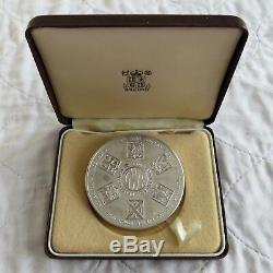 1985 GREAT WESTERN RAILWAY 63mm SILVER MEDAL boxed