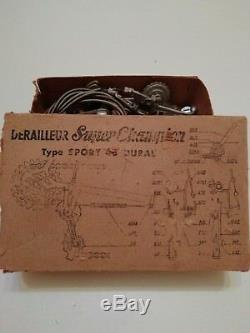 2x SCHALTWERK/DERAILLEUR SUPER CHAMPION TYPE SPORT DURAL 46 + BOX