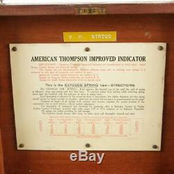 AMERICAN (THOMPSON) STEAM GAUGE INDICATOR in BOX, COMPLETE with BOOK
