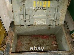 ANTIQUE BULLION STRONG BOX RAILWAY EXPRESS RAILROAD RR OLD GOLD SILVER VTG money