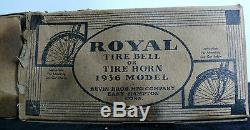 ANTIQUE ROYAL BICYCLE HORN BELL With BOX 1936