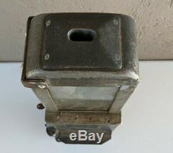 Antique Bus Trolley Farebox Toe Box Metal With Key Rare