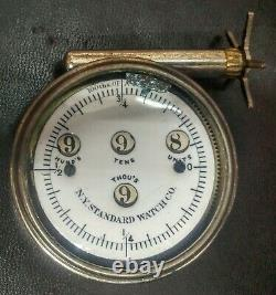 Antique Cyclometer for bicycles N. Y. Standard Watch Co. + ORIGINAL BOX 1895 GUC
