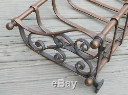 Antique Large Cast Copper Railroad Rack Shelf or Architectural Window Box 36