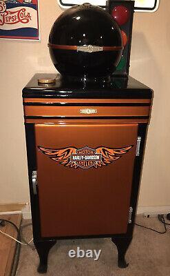 Antique Monitor Top GE GENERAL ELECTRIC HARLEY DAVIDSON REFRIGERATOR ICE BOX