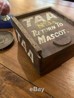 Antique TAA Trans Australia Airline Aeroplane Light Bulb Box