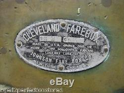 Antique Trolley Fare Box old Cleveland Farebox Johnson New York Chicago w change
