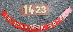 BDZ Set Smokebox/Nameplate Nummernschild/Namensschild BDZ ex DRG 50 442 Brass