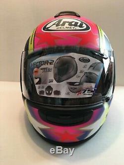 BRAND NEW IN BOX Kevin Schwantz ARAI Vector-2 34+1 Motorcycle Helmet Suzuki