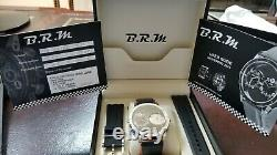 BRM stainless steel dual movement reversible glass back automatic wrist watch