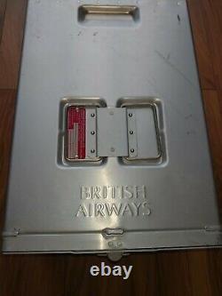 British Airways Boeing 747 Half Meal/equipment Box Ideal For Storage