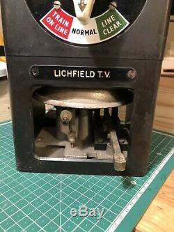 British Railways penguin signal box instrument Lichfield Trent Valley