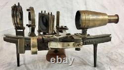 C Plath Germany, brass sextant in wooden box, 8054, nautical