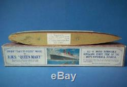Chad Valley 1936 Rare Boxed Take To Pieces Cunard White Star Line Rms Queen Mary
