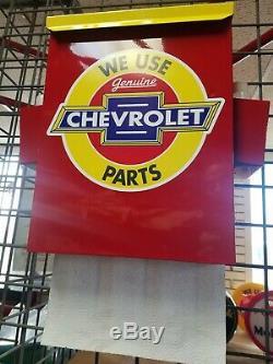 Chevrolet Parts 1950s Tribute Gas Station Dealership Garage Towel Box Dispenser