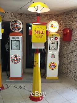 Classic Mopar Parts Service Gas Pump Station Island Light With Towel Box