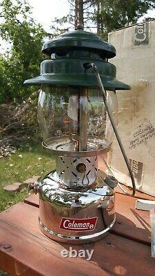 Coleman 237A Gas Lantern with Box & Marked CNR (Canadian National Railway)
