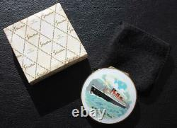 Cunard White Star Line Rms Queen Mary Boxed & Mint Stratton Ladies Compact