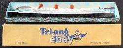 Cunard White Star Line Rms Queen Mary Triang Boxed Waterline Model Ship C-1950's