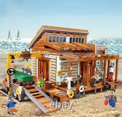 Custom Modular Building Dockyard for Lego Boat 60014 Transportation Ship 10155