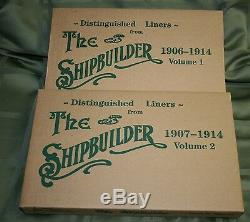 Distinguished Liners From The Shipbuilder Two Volumes New In Sealed Boxes