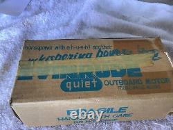 Evinrude Big Twin Outboard Toy Boat Motor with original box! Rare Vintage 1950's
