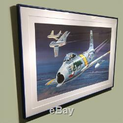 F86-f Sabre Jet The Huff Original Model Box Art Studio Painting Awesome