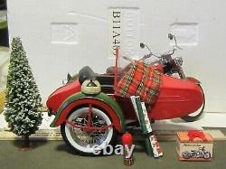 FRANKLIN MINT HARLEY 1958 DUO GLIDE & SIDECAR 2002 CHRISTMAS 110 No Box B11A409