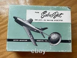 F-86D Sabre Jet USAF desktop aircraft model, North American Aviation Inc, in box