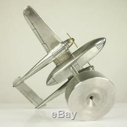 Flugzeug Tisch Modell Alu Fairchild C 119 Flying Boxcar Vintage