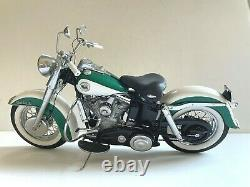 Franklin Mint 110 Diecast Harley Davidson Green 1958 Duo-glide Out Of Box