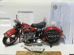 Franklin Mint Harley Davidson 110 scale Box & COA 1948 Panhead L. E. B11Z153 RED