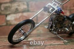 Franklin Mint Harley Davidson 1/10 Easy Rider Motorcycle In Box No Coa