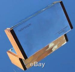 French Line Cgt Ss Normandie Stunning Art Deco Chrome & Rosewood Cigarette Box