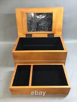 HARLEY DAVIDSON 100th ANNIVERSARY WOODEN JEWELRY BOX FELT LINED BRAND NEW