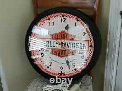 HARLEY DAVIDSON Neon Clock RARE 20 Large Dealer Clock New in the Box USA Made
