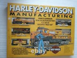 Harley Davidson Train Set 1994 Collectors Edition New In Sealed Box. HO Scale