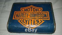 Harley Davidson lunch box with Thermos