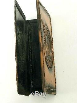INDIAN Motorcycle Metal Match Box Cover Holder Safe Hendee Mfg USA Vintage