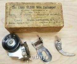 Loew 10,000 mile cyclometer 1890s in box NOS Take a Look, this one is worth it