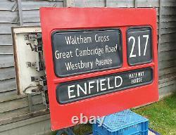 London Transport DMS Bus Front destination blind box complete RARE