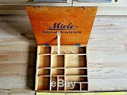 Miele Fahrrad Ersatzteile Holz Schachtel Box Oldtimer Fahrrad Antik