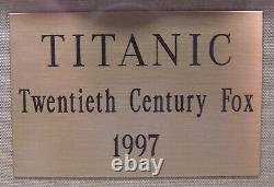 Movie Prop TITANIC First Class Dinner Plate in Shadow Box Frame withCOA NICE