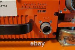 NASA Flight Data Recorder BLACK BOX (Orange) Metrum Datatape 32HE