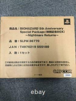 NEW Biohazard Nightmare Returns Resident Evil with Transportation Box UN-OPENED