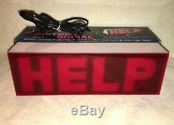 NOS Emergency Flashing Light Vintage Hazard Warning Accessory Original Box
